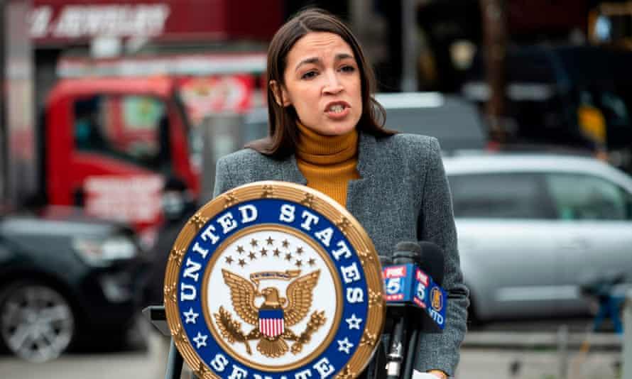 Alexandria Ocasio-Cortez in New York. 'Unity isn't a feeling,' she said this week. 'I think Biden can go further.'