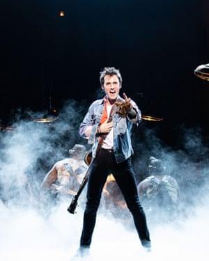 Reeve Carney as Orpheus in Hadestown.