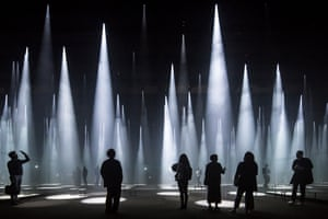 'Forest of Light' installation for COS, Salone del Mobile, Milan, Italy. Architect: Sou Fujimoto Architects. Buildings in Use categoryJapanese architect Sou Fujimoto installed a series of conical shafts of light in the Cinema Arti in Milan's San Babila district, in a project with the COS clothing brand