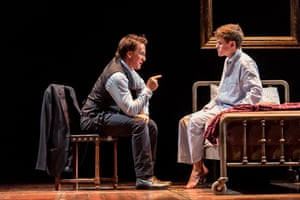 Harry Potter played by Jamie Parker with Sam Clemmett as son Albus Potter.