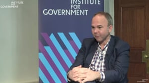 Gavin Barwell at the IfG this morning.