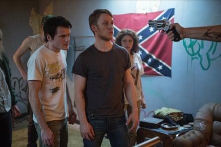Anton Yelchin, Joe Cole and Alia Shawkat star in Jeremy Saulnier's Green Room (2015).