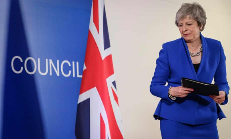 Theresa May gives a press conference at the end of the European Council meeting in Brussels, Belgium, 25 November 2018