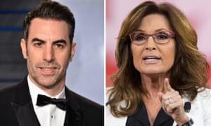 Sacha Baron Cohen with his latest target, Sarah Palin.
