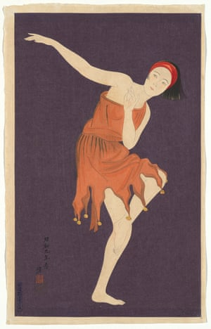 Jazz dancer (1934), by Kobayakawa Kiyoshi, colour woodblock