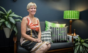 Heather Moore, owner of Skinny LaMinx fabric and paper design company