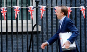 Matt Hancock arrives at Downing street on the 75th anniversary of VE Day, 8 May.