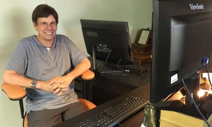The patron saint of fact-checking ... David Mikkelson, co-founder of Snopes.com at his desk in Calabasas, California.