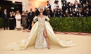 wholesale dealer 840c7 6e183 Cardi B wowed the crowds in an angelic Moschino creation by Jeremy Scott,  complete with
