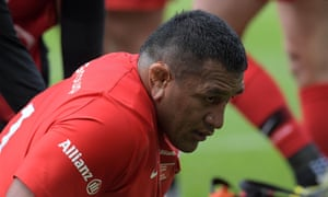 Mako Vunipola was injured in the first half of Saracens' Champions Cup final win over Leinster.