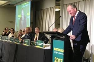 Barnaby Joyce at the conference