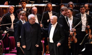 Elegant and deceptively gentle... Emanuel Ax (left) and Haitink after their performance of Beethoven's fourth piano concerto