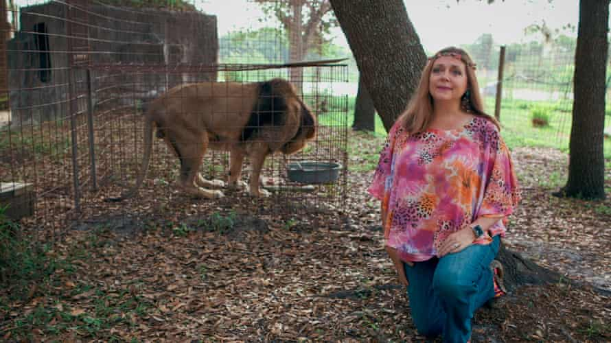 Carole Baskin, the owner of a rival big cat sanctuary in Florida.