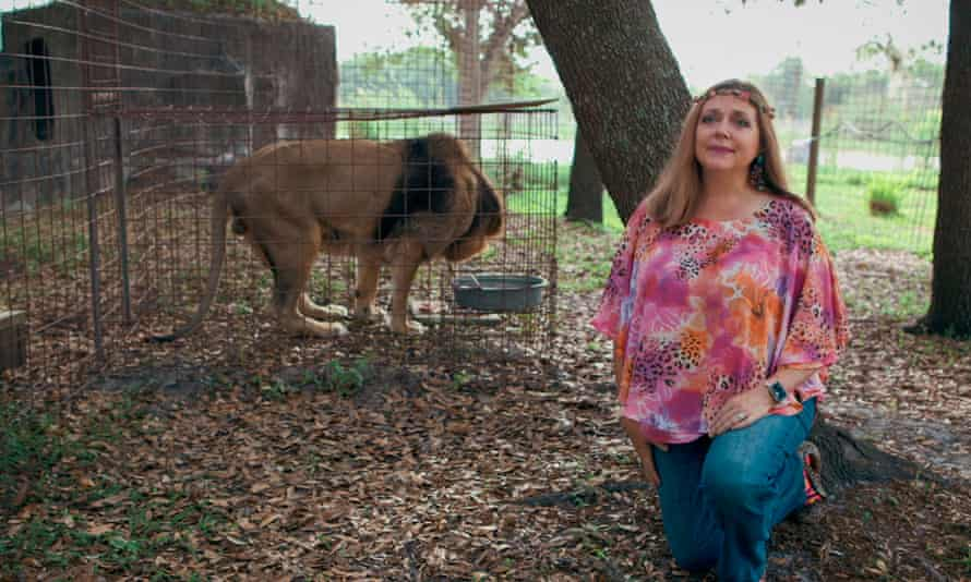 Carole Baskin, founder of Big Cat Rescue, walking in the property near Tampa, Florida.