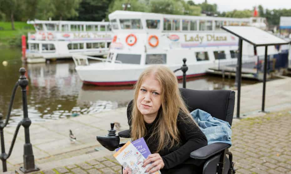 Frances Ryan about to take a boat cruise down the River Dee on the Lady Diana.