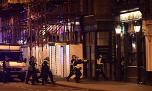 Armed police raid The Blue Eyed Maid in Borough High Street at London Bridge
