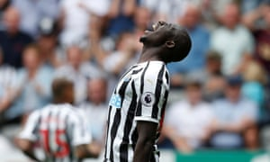 A frustrated Mohamed Diame.