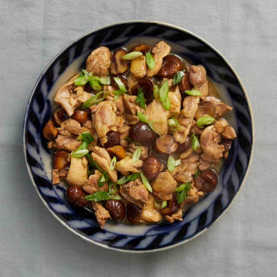 Fuchsia Dunlop's Sichuan braised chicken with chestnuts.