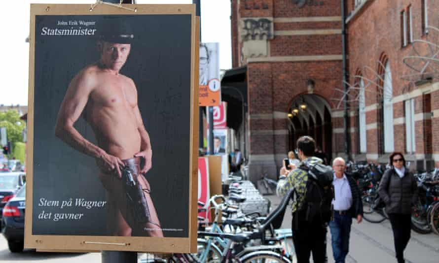 John Erik Wagner's election poster in Copenhagen.