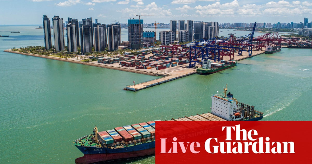 China's exports slow and German factory orders drop amid supply shortages – business live