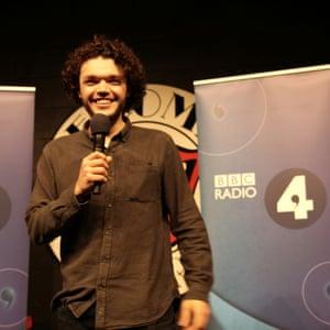 Alfie Packham on stage.
