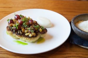 Cauliflower with salted grapes: 'Even for a vegan-food cheerleader, this dish is a mess.'