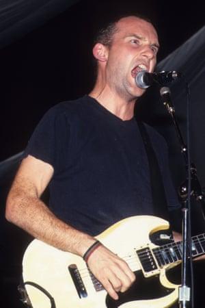 Ian MacKaye and Fugazi at the Roseland Ballroom<br>in 1993