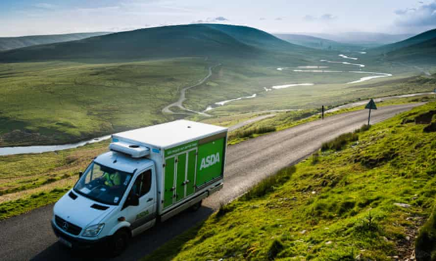 An ASDA home delivery van in Wales