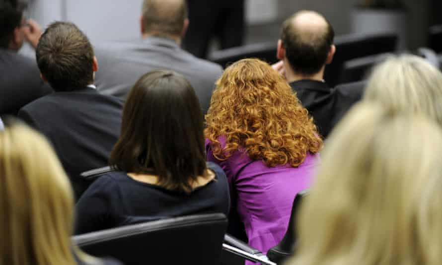 Audience at an office conference