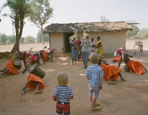 Boys of the Deer Horn Muria tribe dance.