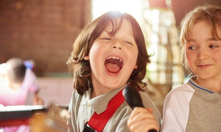 Singing is the most popular form of music-making among children.