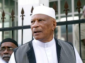 Yasin Abu Bakr, leader of the Jamaat al Muslimeen organization responsible for a 1990 attempted coup, in 2015.