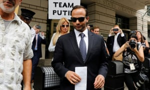 George Papadopoulos outside court last September