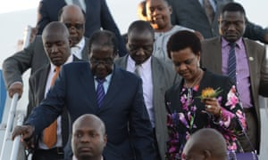 Robert and Grace Mugabe arrived at the G20 leaders' summit in Turkey on 14 November.