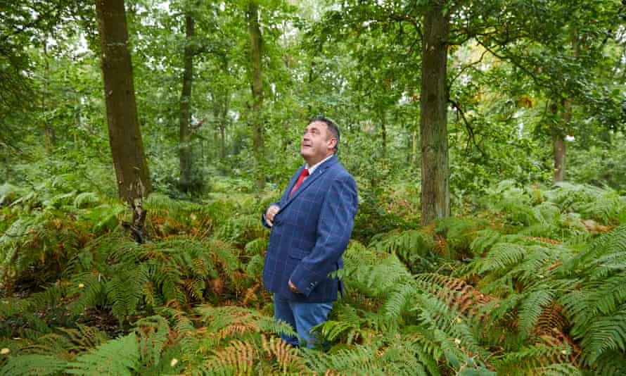 Mark Hewitt … 'It's beautiful, this wood. There are buzzards nesting here.'
