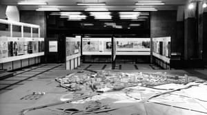 A model of the city by Manchester City Council's planning department on public display in 1965.