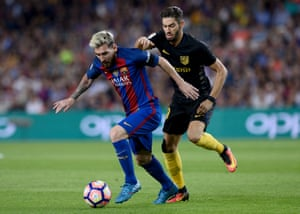 Messi in control ahead of Ferreira-Carrasco.