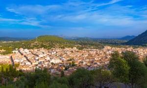 Hill view over Pollença.