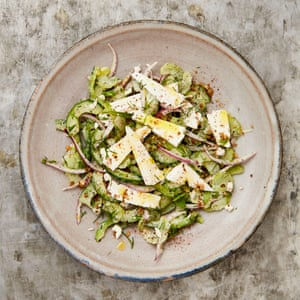Yotam Ottolenghi's chopped salad with feta and yoghurt.