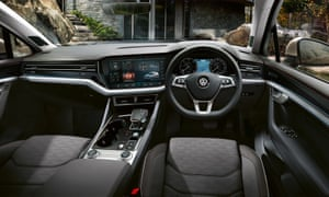 Inside story: the lavish interior of the Touareg, featuring the huge double digital dashboard