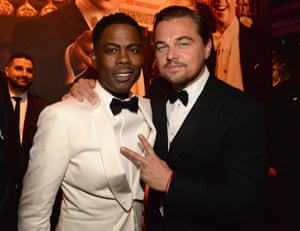 Chris Rock and Leonardo DiCaprio attend the 2016 Vanity Fair Oscar Party Hosted By Graydon Carter