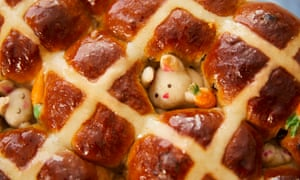 Kim-Joy's hot cross buns with hiding bunnies