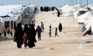 About 80,000 people live in al-Hawl camp on the Iraqi border.
