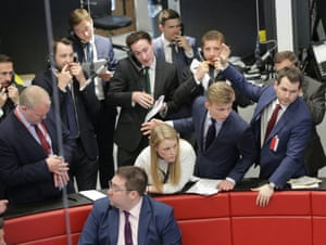 Traders and clerks on the floor of the London Metal Exchange, London, back in May 2016.