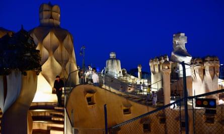 Evening concert in La Pedrera, Casa Mila. Barcelona