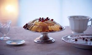 Claire Ptak's pomegranate prosecco gelee.
