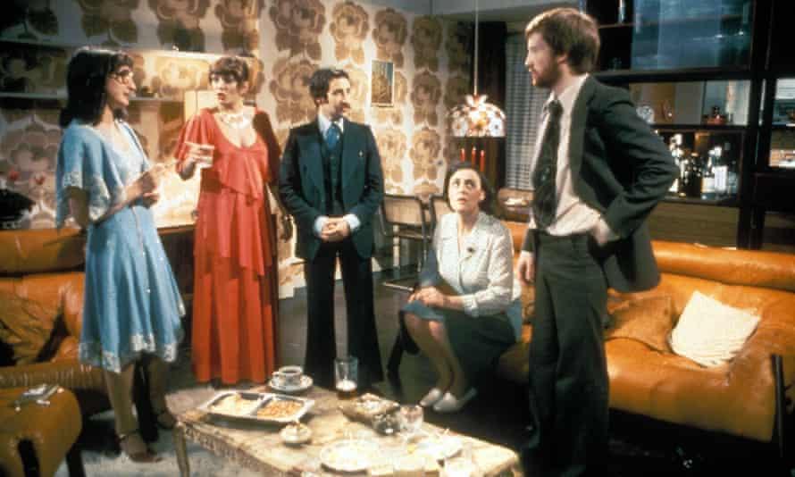 Abigail's Party - (from left) Janine Duvitski, Alison Steadman, Tim Stern, Harriet Reynolds, John Salthouse.