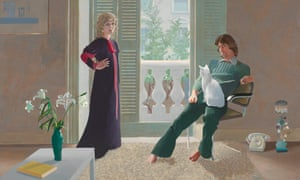 Mr and Mrs Clark and Percy, by David Hockney.