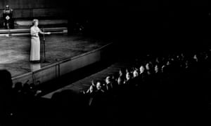 Vera Lynn performs at the Alamein Reunion at Festival Hall in London on 21 October 1967, to mark the 25th anniversary of the battle
