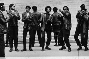 Members of the Black Panther party in New York, 1969
